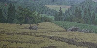 Oljemålning av landskap