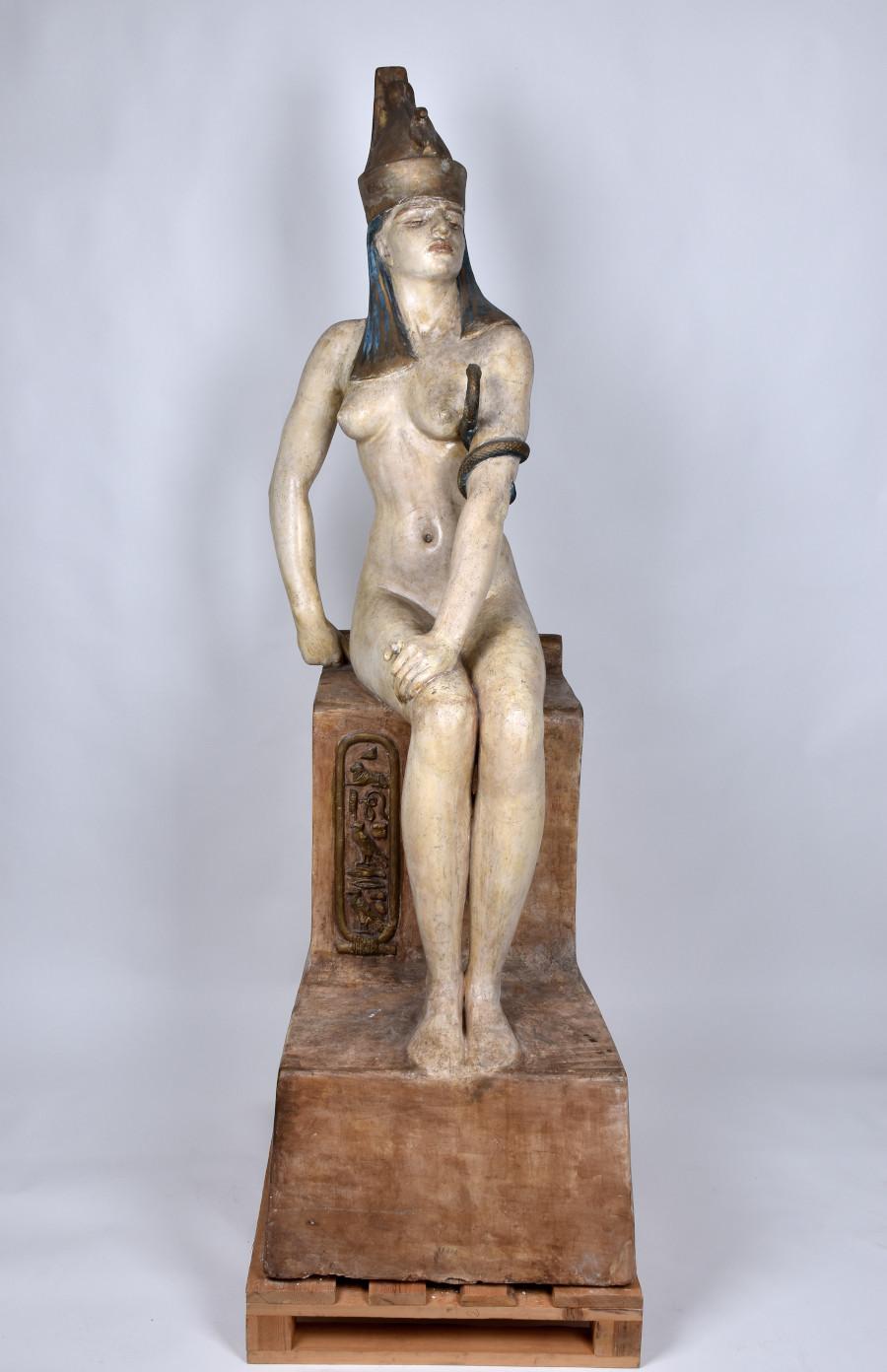 Skulptur föreställande Kleopatra