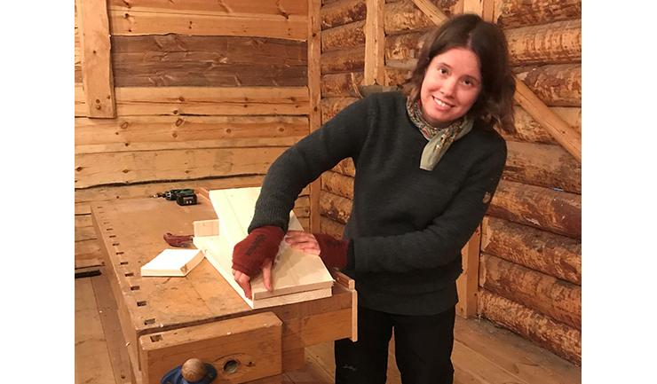 I Rackebyladugården byggdes holkar för fladdermöss.